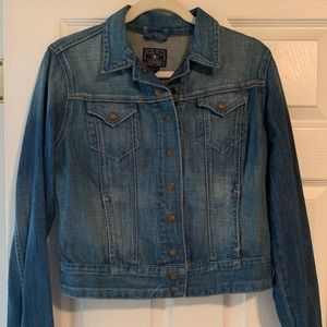 Lucky Brand Denim Jacket with Brass Snap Buttons